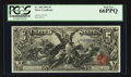 Large Size:Silver Certificates, Fr. 268 $5 1896 Silver Certificate PCGS Gem New 66PPQ.. ...