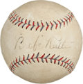 "Autographs:Baseballs, Circa 1927 ""Babe"" Ruth Single Signed Baseball, PSA/DNA VG-EX+4.5...."