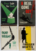 Books:Mystery & Detective Fiction, Frank Kane. Group of Four First Edition Books. Various, 1949-1958.Dead Weight with clipped ffep. Very good.... (Total: 4Items)