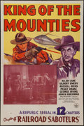 "Movie Posters:Action, King of the Mounties (Republic, 1942). One Sheet (27"" X 41""). Chapter 4 -- ""Railroad Saboteurs."" Action.. ..."