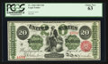 Large Size:Legal Tender Notes, Fr. 126b $20 1863 Legal Tender PCGS Choice New 63.. ...
