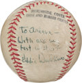 Autographs:Baseballs, 1960's Eddie Waitkus Single Signed Baseball....