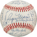Autographs:Baseballs, 1961 New York Yankees Reunion Team Signed Baseball, PSA/DNA NM-MT8....