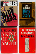 Books:Mystery & Detective Fiction, Eric Ambler. Group of Four Books, Three First Editions. Various,1964-1990. Dark Frontier is a reissue. Very good.... (Total:4 Items)