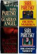 Books:Mystery & Detective Fiction, Sara Paretsky. Group of Four First Edition Books, Three Signed orInscribed. Delacorte, 1988-1994. Burn Marks is unsigne...(Total: 4 Items)