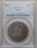 Bust Half Dollars: , 1811 50C Small 8 Fine 15 PCGS. PCGS Population (7/406). NGC Census:(0/0). (#6097)...
