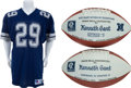 """Football Collectibles:Uniforms, 1990-93 Kenneth """"The Shark"""" Gant Game Used Dallas Cowboys Jersey and Presentation Footballs Lot of 3...."""