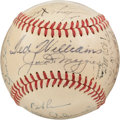 Autographs:Baseballs, 1951 American League All-Star Team Signed Baseball, PSA/DNA EX+5.5....