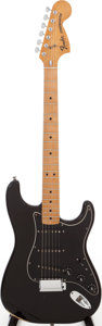 Musical Instruments:Electric Guitars, 1976 Fender Stratocaster Black Solid Body Electric Guitar, Serial # 7670968....