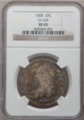 Bust Half Dollars: , 1808 50C XF45 NGC. O-104. NGC Census: (55/250). PCGS Population(61/256). Mintage: 1,368,600. Numismedia Wsl. Price for pr...