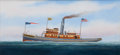 Maritime:Paintings, SCOTT CAMERON (American, b. 1946). Portraits of Chesapeake &Delaware Steamships 'Brandywine' and 'Dixie'. Oil on canvas...(Total: 2 Items)