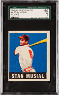 Baseball Cards:Singles (1940-1949), 1948 Leaf Stan Musial #4 SGC 60 EX 5....