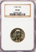 Proof Washington Quarters: , 1938 25C PR65 NGC. NGC Census: (336/464). PCGS Population(665/462). Mintage: 8,045. Numismedia Wsl. Price for problemfree...