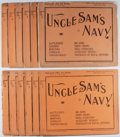 Books:Americana & American History, [Naval History]. Uncle Sam's Navy. 12 Parts. HistoricalPublishing, 1898. Wrappers toned and somewhat tattered w...