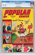 Golden Age (1938-1955):Cartoon Character, Popular Comics #91 File Copy (Dell, 1943) CGC NM 9.4 Off-white pages....