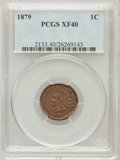 Indian Cents: , 1879 1C XF40 PCGS. PCGS Population (17/214). NGC Census: (12/526).Mintage: 16,231,200. Numismedia Wsl. Price for problem f...