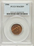 Indian Cents: , 1906 1C MS63 Brown PCGS. PCGS Population (73/98). NGC Census:(144/342). Mintage: 96,022,256. Numismedia Wsl. Price for pro...