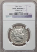 Proof Barber Half Dollars: , 1902 50C -- Stained -- NGC Details. Proof. NGC Census: (1/215).PCGS Population (5/241). Mintage: 777. Numismedia Wsl. Pric...