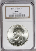 Eisenhower Dollars: , 1972-S $1 Silver MS67 NGC. NGC Census: (666/316). PCGS Population (3735/1128). Mintage: 2,193,056. Numismedia Wsl. Price: $...