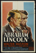"Movie Posters:Drama, Abraham Lincoln (United Artists, R-1930s). One Sheet (27"" X 41""). Drama. Starring Walter Huston, Una Merkel, Ian Keith and K..."