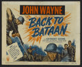 "Movie Posters:War, Back to Bataan (RKO, R-1950). Title Lobby Card (11"" X 14"").Starring John Wayne, Anthony Quinn, Beulah Bondi and Fely Franqu..."