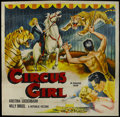 """Movie Posters:Adventure, Circus Girl (Republic, 1956). Six Sheet (81"""" X 81""""). Adventure. Starring Kristina Soderbaum, Willy Birgel, Adrian Hoven and ..."""
