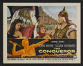 "Movie Posters:Action, The Conqueror (RKO, 1956). Lobby Card (11"" X 14""). Action. StarringJohn Wayne, Susan Hayward, Pedro Armendariz, Agnes Moore..."