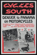 "Movie Posters:Documentary, Cycles South (Dal Arts, 1971). One Sheet (27"" X 41""). Documentary. Starring Don Marshall, Vaughan Everly and Bobby Garcia. D..."