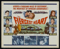 "Movie Posters:Adventure, The Fiercest Heart (20th Century Fox, 1961). Half Sheet (22"" X28""). Adventure. Starring Stuart Whitman, Juliet Prowse, Ken ..."