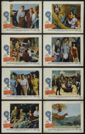 "Movie Posters:Adventure, Five Weeks in a Balloon (20th Century Fox, 1962). Lobby Card Set of8 (11"" X 14""). Comedy. Starring Red Buttons, Fabian, Bar... (Total:8 Items)"