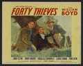 "Movie Posters:Western, Forty Thieves (United Artists, 1944). Lobby Card (11"" X 14""). Western. Starring William Boyd as Hopalong Cassidy, Andy Clyde..."
