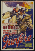 "Movie Posters:Western, Gunfire (Resolute Pictures, 1935). One Sheet (27"" X 41""). Western.Starring Rex Bell, Ruth Mix, Buzz Barton and Philo McCull..."