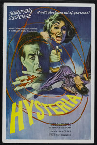 "Hysteria (MGM, 1964). One Sheet (27"" X 41""). Starring Robert Webber, Anthony Newlands, Jennifer Jayne, Maurice..."