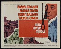 "Man in the Middle (20th Century Fox, 1964). Half Sheet (22"" X 28""). War Drama. Starring Robert Mitchum, France..."