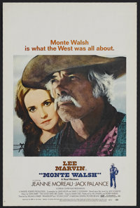 "Monte Walsh (National General, 1970). Window Card (14"" X 22""). Western. Starring Lee Marvin, Jean Moreau, Jack..."