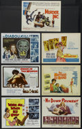 """Movie Posters:Crime, Murder, Inc. (20th Century Fox, 1960). Title Lobby Cards (7) (11"""" X14""""). Crime. Starring Stuart Whitman, May Britt, Henry M... (Total:7 Items)"""