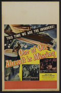 "Movie Posters:War, One of Our Aircraft Is Missing (United Artists, 1942). Window Card(14"" X 22""). War. Starring Godfrey Tearle, Eric Portman, ..."