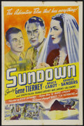 "Movie Posters:War, Sundown (United Artists, R-1950s). One Sheet (27"" X 41""). War.Starring Gene Tierney, Bruce Cabot, George Sanders and Harry ..."