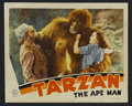 "Movie Posters:Adventure, Tarzan the Ape Man (MGM, 1932). Lobby Card (11"" X 14""). Adventure.Starring Johnny Weissmuller, Neil Hamilton, Maureen O'Sul..."