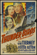 "Movie Posters:War, Thunder Birds (20th Century Fox, 1942). One Sheet (27"" X 41""). War.Starring Gene Tierney, Preston S. Foster, John Sutton an..."