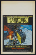 "Movie Posters:War, Where Eagles Dare (MGM, 1968). Window Card (14"" X 22""). War.Starring Richard Burton, Clint Eastwood, Mary Ure, Patrick Wyma..."