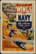 "Movie Posters:Drama, Wings of the Navy (Warner Brothers, 1939). One Sheet (27"" X 41""). Drama. Starring George Brent, Olivia de Havilland, John Pa..."