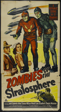 "Zombies of the Stratosphere (Republic, 1952). Three Sheet (41"" X 81""). Sci-Fi Serial. Starring Judd Holdren, A..."