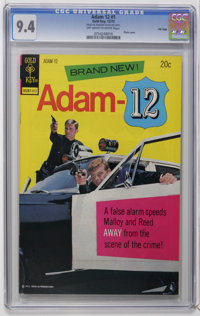 Adam 12 #1 File Copy (Gold Key, 1973) CGC NM 9.4 Off-white to white pages. Photo cover. Overstreet 2006 NM- 9.2 value =...