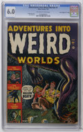 "Golden Age (1938-1955):Horror, Adventures Into Weird Worlds #1 Davis Crippen (""D"" Copy) pedigree(Atlas, 1952) CGC FN 6.0 Off-white to white pages. Feature..."