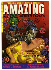 Amazing Adventures #4 (Ziff-Davis, 1951) Condition: Apparent FN/VF. Painted robot cover. Murphy Anderson art. Color touc...