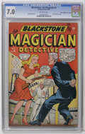 """Golden Age (1938-1955):Miscellaneous, Blackstone, the Magician #4 Davis Crippen (""""D"""" Copy) pedigree (Timely, 1948) CGC FN/VF 7.0 Off-white pages. Blonde Phantom s..."""