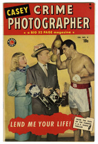 Casey-Crime Photographer #4 Mile High pedigree (Marvel, 1950) Condition: VF+. Photo cover. Overstreet 2006 VF 8.0 value...