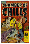 Golden Age (1938-1955):Horror, Chamber of Chills #7 (Harvey, 1952) Condition: VF/NM. Cover by LeeElias, and some gory decapitation/severed head panels to ...