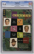 Silver Age (1956-1969):Mystery, Checkmate #1 File Copy (Gold Key, 1962) CGC NM 9.4 Off-white towhite pages. Partial photo cover. Back cover pin-up. Jack Sp...